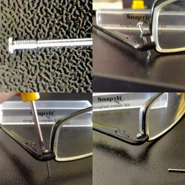 Repairing glasses with SnapIt