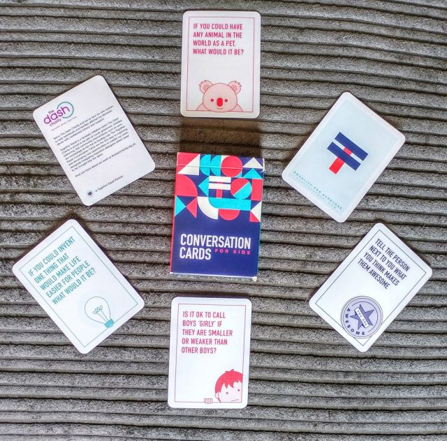 Conversation cards for kids from together equal