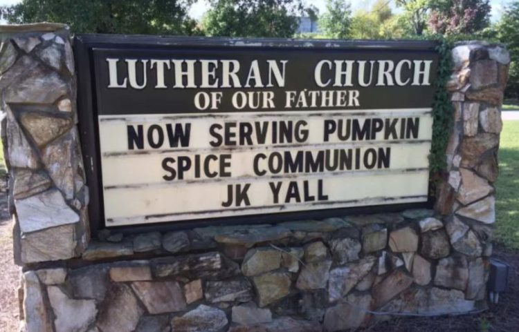 Pumpkin Spice Has Now Infiltrated Church Indicators