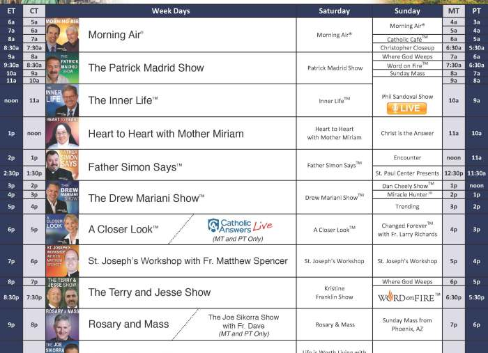 Fr. Rocky Announces New Relevant Radio Program Schedule