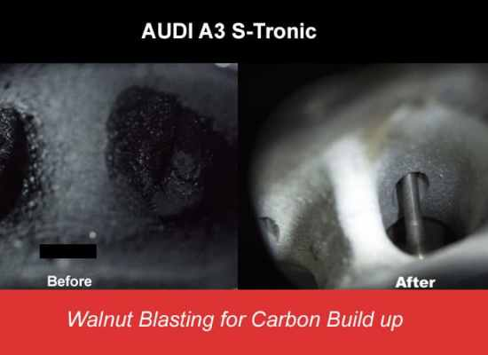 Walnut Blasting Carbon Buildup