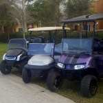 Custom Golf Carts Purple