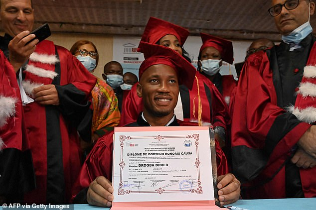 Drogba honoured with a degree for charity works