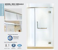 2 Panel Shower Screen. Hinged Double Bath Screen ...