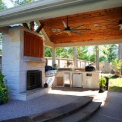 Covered Outdoor Kitchen Houzz Kitchens Reliant Construction Custom Patio 3