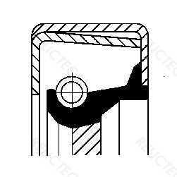 Shaft seal, manual transmission Fiat Lancia Alfa Romeo