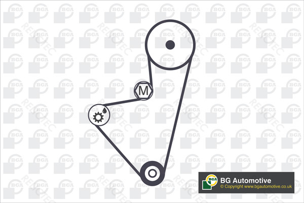 Timing Belt Pulley Set Kit for Peugeot Citroen Volvo:306