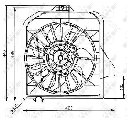 Radiator Fan Cooling Dodge Chrysler:CARAVAN,VOYAGER IV