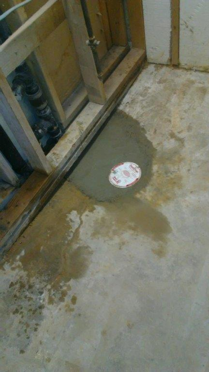 Floor Drain After Repair from Relief Home Services