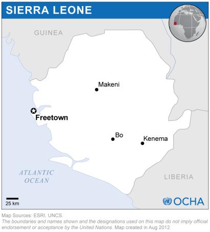 Map of Sierra Leone (Source » ReliefWeb)
