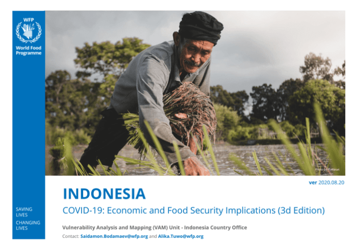 Indonesia Covid 19 Economic And Food Security Implications 3d Edition Indonesia Reliefweb