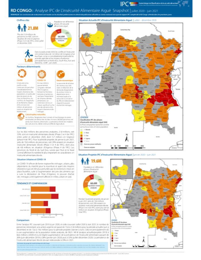 Analyse Ipc De L Insecurite Alimentaire Aigue Snapshot Juillet 2020 Juin 2021 Democratic Republic Of The Congo Reliefweb
