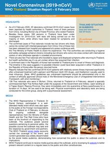 Novel Coronavirus (2019-nCoV), WHO Thailand Situation Report – 6 ...
