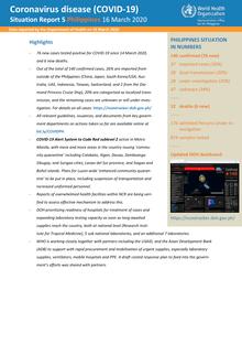 Coronavirus disease (COVID-19) : Situation Report 5 Philippines 16 ...