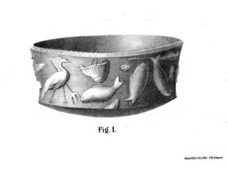 Drawing of the original silver cup by K. Gooss (1870)