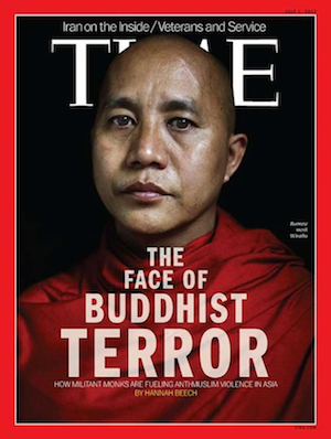 Ashin Wirathu on the cover of Time in 2013