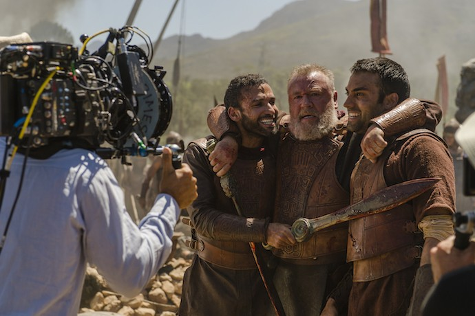 "Image from ""Of Kings & Prophets"" episode 3, ""Lest I Sleep The Sleep of Death,"" airing TUESDAY, MARCH 22 (10:00-11:00 p.m. EDT) on the ABC Television Network. (ABC/Trevor Adeline) HAAZ SLEIMAN, RAY WINSTONE, JAMES FLOYD"
