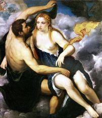 Jupiter og Lo av Paris Bordone. Wikimedia Commons Fristatus