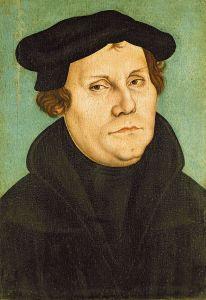Martin Luther av Lucas Cranach (1528) - Wikimedia Commons.
