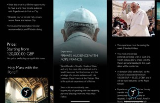 Rolls-Royce Promotes Private Mass With Pope Francis for 5,000