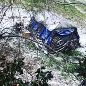 A homeless encampment in Dallas during recent extreme winter weather. Photo courtesy of Ali Hendricksen/OurCalling