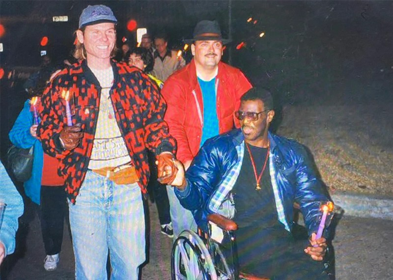 Community of Hope Church members participate in a World AIDS Day march in the 1990s. Photo courtesy of Leslie Penrose