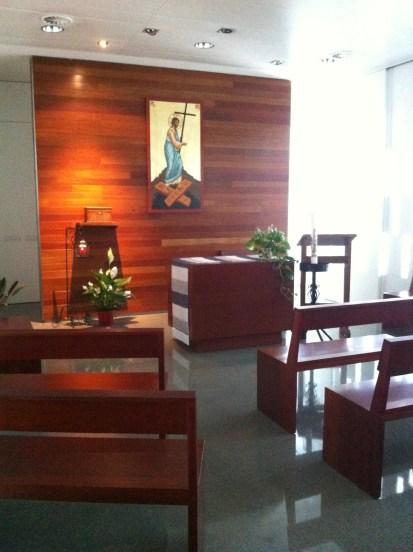 Catholic chapel in a Spanish hospital