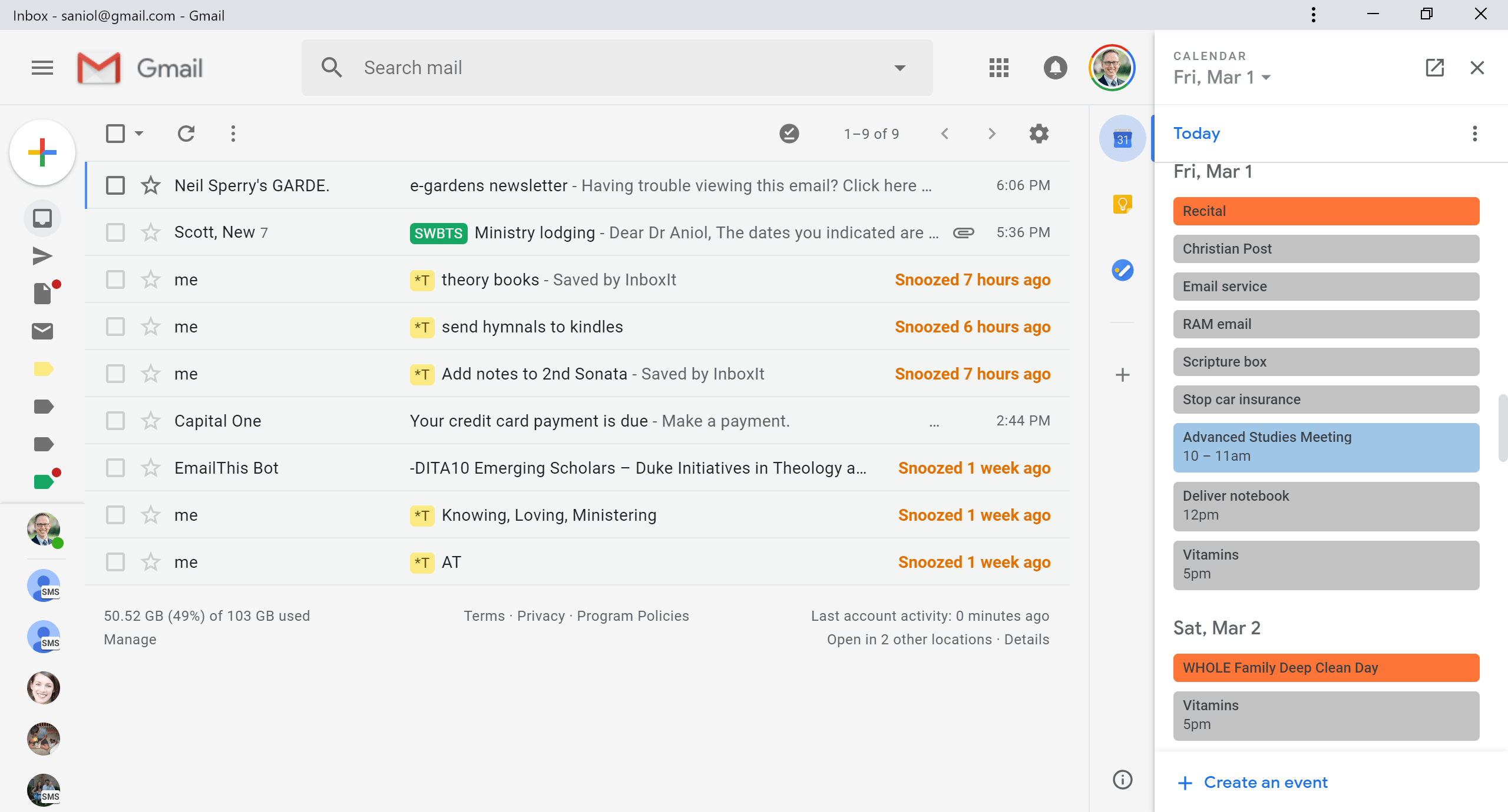 Getting Things Done: Google Calendar, Gmail + Evernote = Productivity