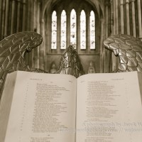 Bible on lectern (eagle) in Lichfield Cathedral