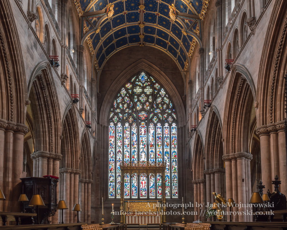 Carlisle Cathedral Nave Altar Stained Glass Religious
