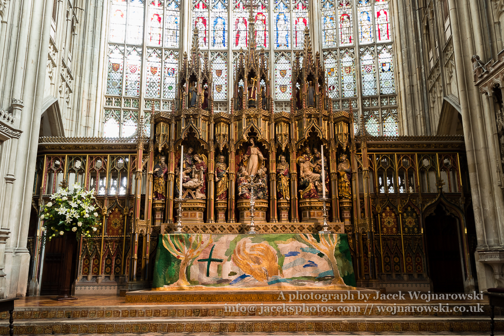 Gloucester Cathedral Inside Altar Religious Architecture