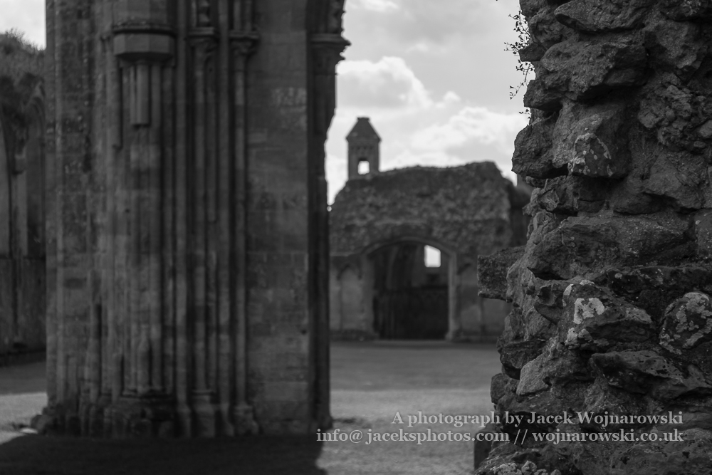 Ruins of Glastonbury Abbey O, The abbey was founded in the 7th century and enlarged in the 10th
