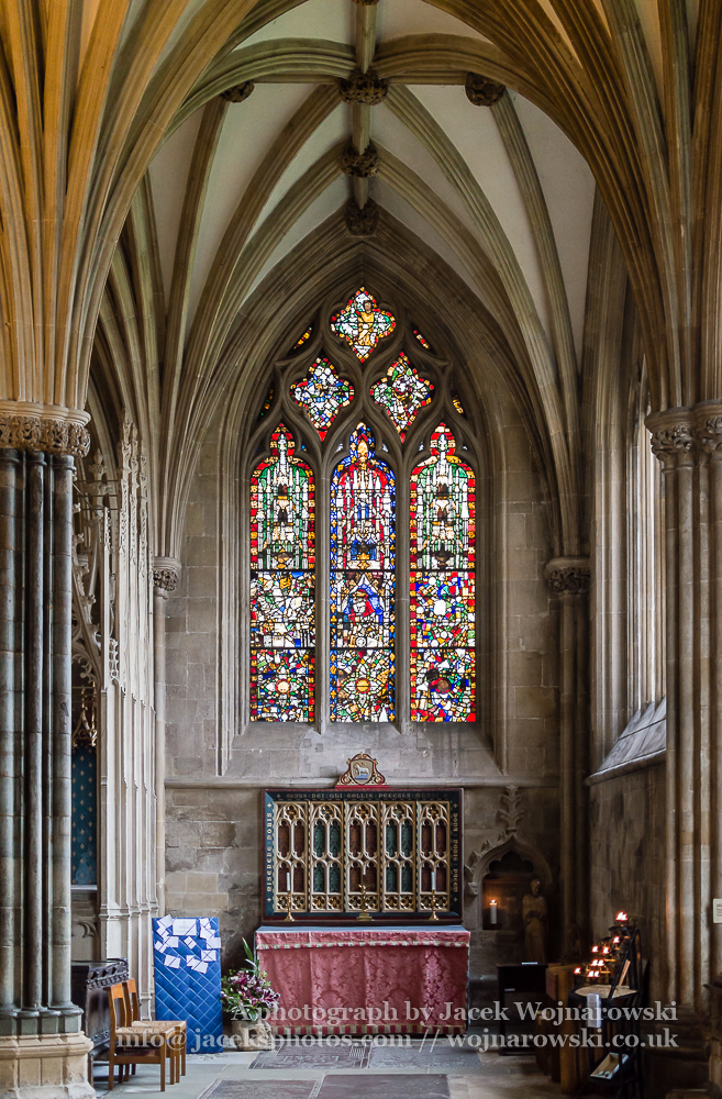 St Katherine's Chapel in Wells Cathedral vertical photography