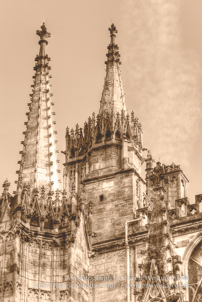 York Minster Spirelet Towers HDR sepia tone