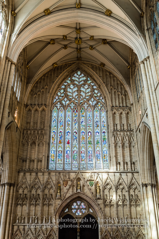 York Minster West Window Interior Heart Of York low angle B
