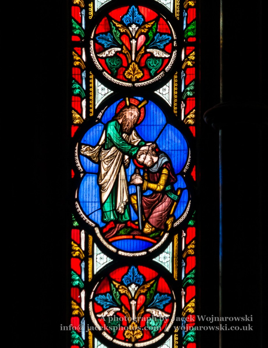 Stained Glass in Worcester Cathedral - The Unett Window close up C