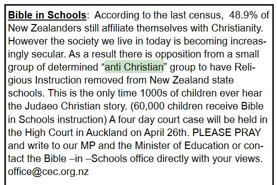 anglican newsletter anti christian