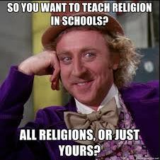 teach religion in schools