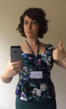 Venetia Robertson ready for the conference!