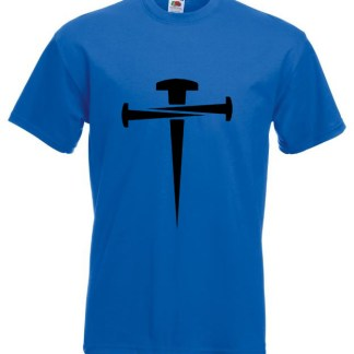 Cross Of Nails Blue T-shirt
