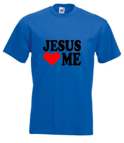 Jesus Loves Me Blue T-shirt