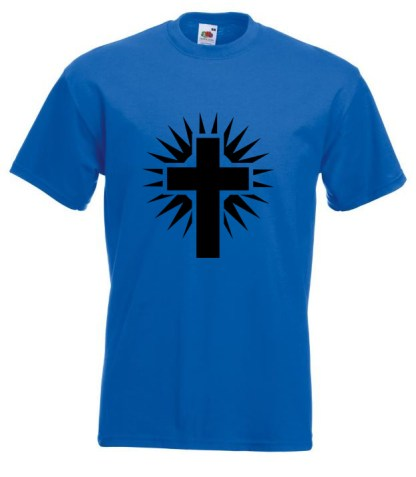 Shining Cross Blue TShirt