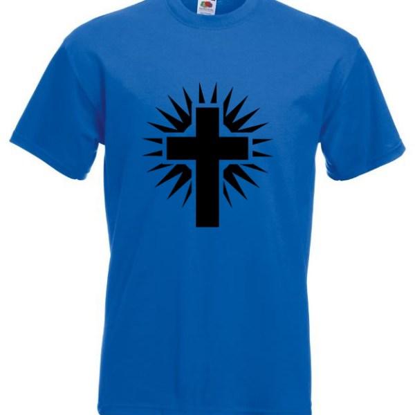 Shining Cross Blue TShirt