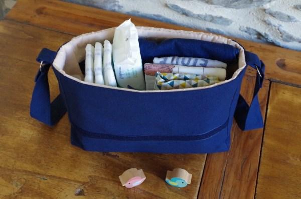 Mini-sac à langer rempli