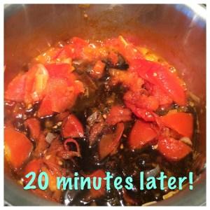 Balsamic vinegar added