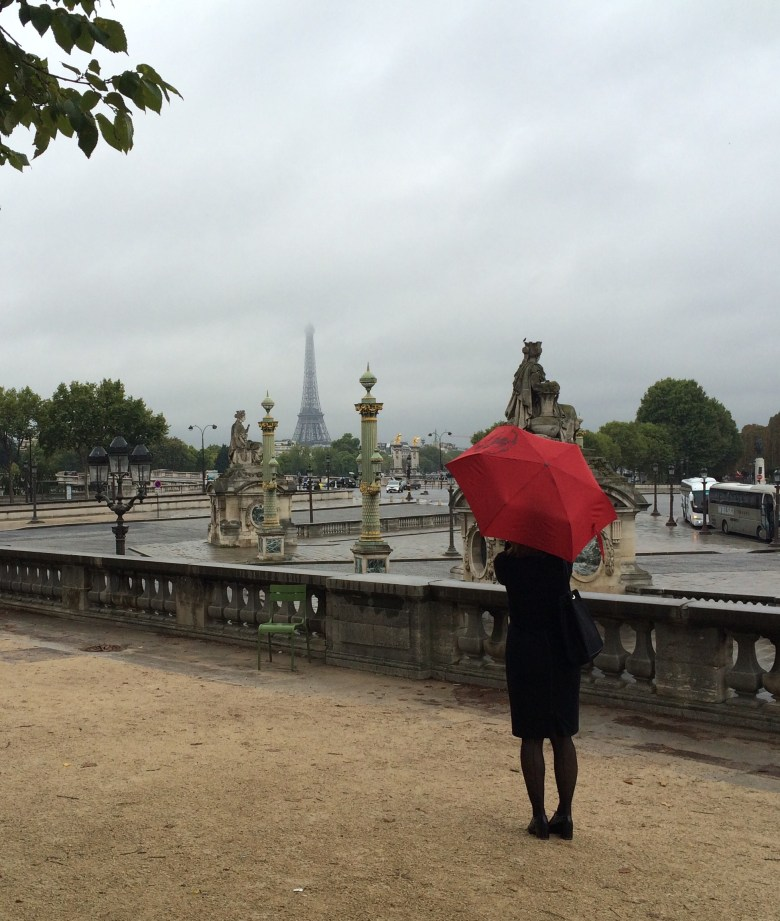 Even a rainy day in Paris is a good day!