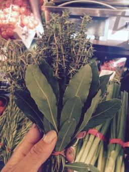 Fresh herbs for our dinner