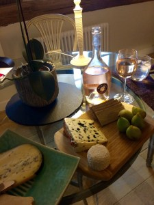 Cheese, pate, figs and Rosé