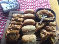 Empanadas and sausages