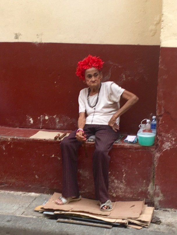 Old woman in Old Havana